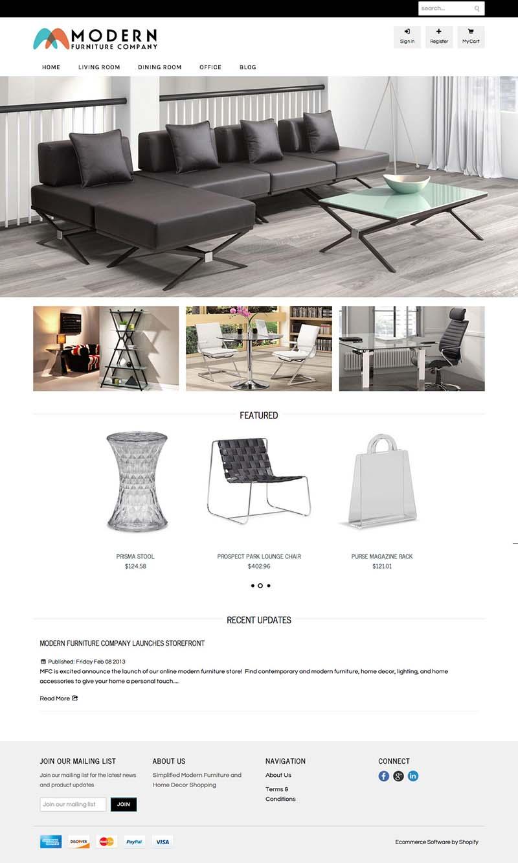 Modern Furniture Company Aileron Marketing